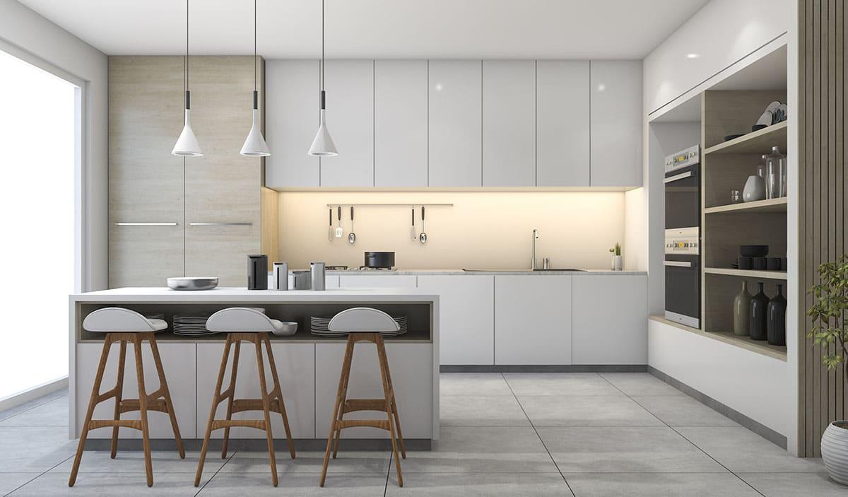 Diseño de cocinas pequeñas modernas